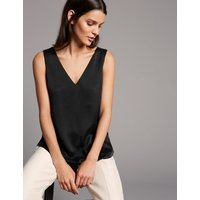 Autograph Pure Silk V-Neck Sleeveless Blouse