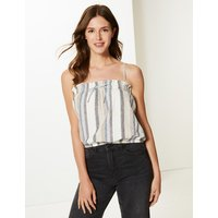 M&S Collection Striped Square Neck Camisole Top