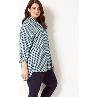 M&S Collection CURVE Checked Long Sleeve Shirt