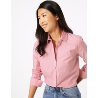 MandS Collection Pima Cotton Polka Dot Print Shirt