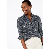 MandS Collection Cotton Rich Ditsy Floral Print Shirt