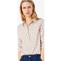 MandS Collection Cotton Rich Polka dot Shirt