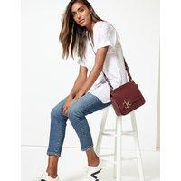 M&S Collection Satin Longline V-Neck Short Sleeve Blouse