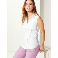 MandS Collection PETITE Button Detailed Shirt