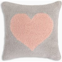 Knitted Heart Printed Cushion