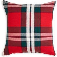 Oversized Check Cushion