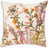 Wild Flower Embroidered Cushion