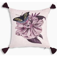 Amelie Embroidered Floral Cushion
