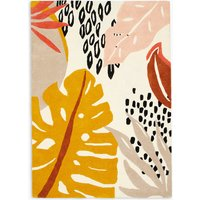Abstract Leaf Wool Rug