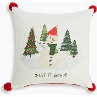 Let It Snow Print Cushion