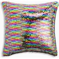 Reversible Rainbow Sequin Cushion