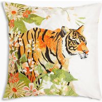 Tiger Print & Stitch Cushion