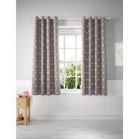 Cotton Mix Rainbow Eyelet Kids' Curtains grey