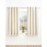 M&S Collection Chenille Eyelet Curtains