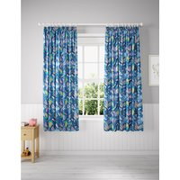 Glow in the Dark Under the Sea Blackout Kids Curtains blue
