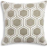 Hexagonal Embroidered Cushion