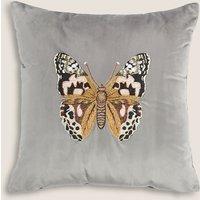 image-Velvet Butterfly Cushion