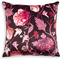 Velvet Statement Floral Square Cushion