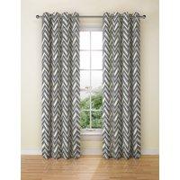 Crescent Chevron Eyelet Curtains