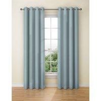 Banbury Weave Eyelet Curtains blue