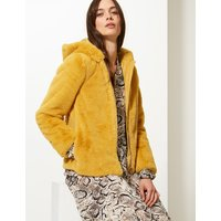 M&S Collection Hooded Faux Fur Jacket