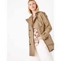 MandS Collection Cotton Blend Double Breasted Trench Coat