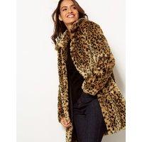 Per Una Animal Print Faux Fur Coat