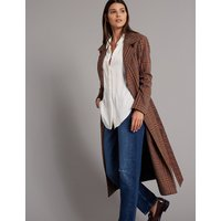 Autograph Checked Trench Coat