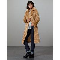Autograph Longline Faux Fur Teddy Bear Coat