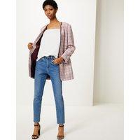 M&S Collection Textured Tweed Coat
