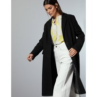 Autograph Wool Rich Single Breasted Coat with Cashmere