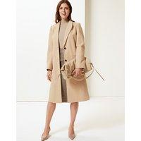 M&S Collection Textured Longline Overcoat