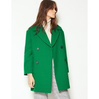 M&S Collection Textured Double Breasted Coat