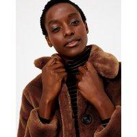 M&S Collection Faux Fur Coat