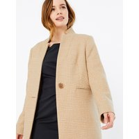 M&S Collection PETITE Checked Overcoat