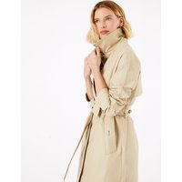 MandS Collection Cotton Rich Longline Belted Trench Coat