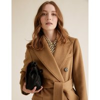 MandS Collection Belted Double Breasted Longline Coat