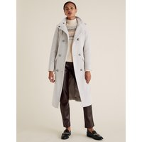 MandS Collection Belted Double Breasted Coat with Wool