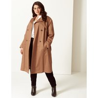 M&S Collection CURVE Longline Trench Coat with Stormwear