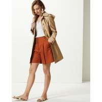 M&S Collection Button Detail Hooded Trench Coat