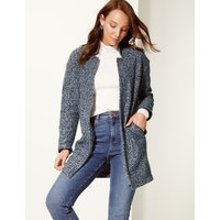 M&S Collection Textured Open Front Coat