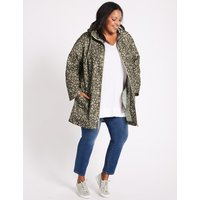 M&S Collection CURVE Printed Anorak Jacket with Stormwear
