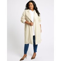 M&S Collection CURVE Linen Rich Waterfall Jacket