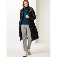 M&S Collection Padded Down & Feather Coat with Stormwear