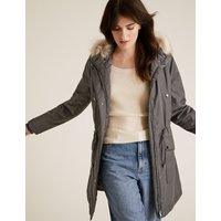 MandS Collection Textured Waisted Parka Coat