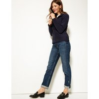 M&S Collection Zipped Through Funnel Neck Fleece Jumper