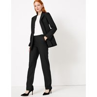 Autograph Wool Silk Blend Straight Leg Trousers