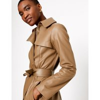 Autograph Leather Trench Coat