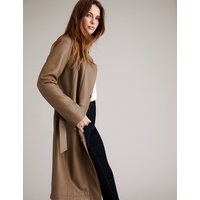 Autograph Leather Belted Trench Coat