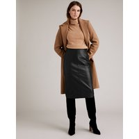 Autograph Leather Pencil Skirt